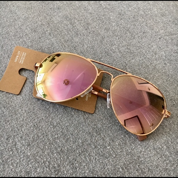 28913f7912 American Eagle Rose Gold Aviator Sunglasses